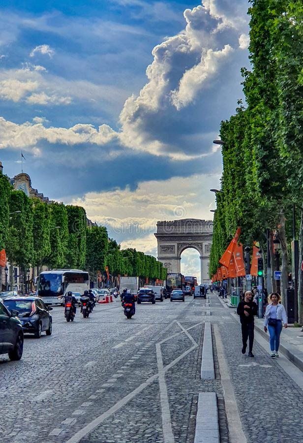 "Paris, France, juin 2019 : Arc de Triomphe de l ""Etoile images stock"