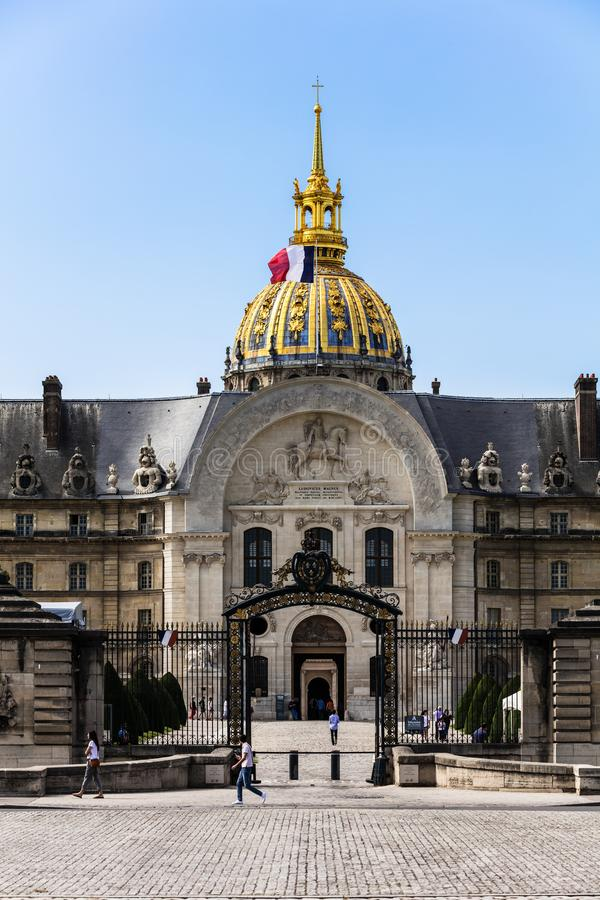 Les Invalides The National Residence of the Invalids. Paris, F royalty free stock photos