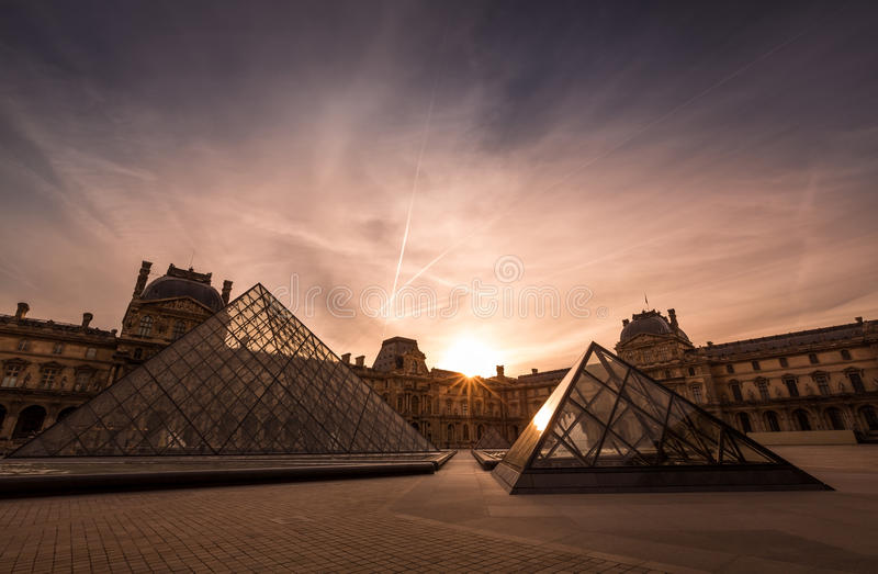 Paris, France - The Louvre Museum royalty free stock photos