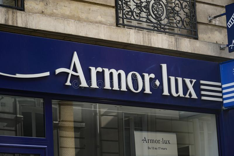Armor Lux French clothing store royalty free stock photography