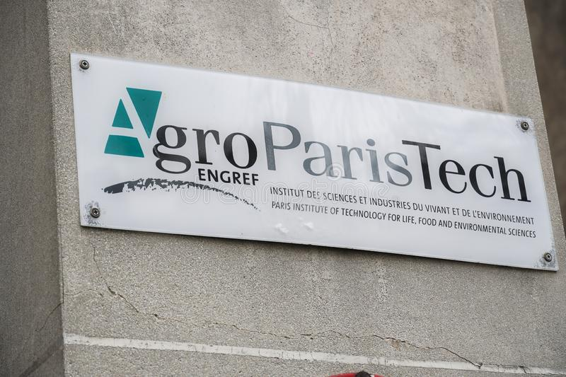 AgroParisTech sign stock images