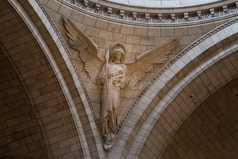 Paris, France, March 26, 2017: Interior of Roman Catholic church and minor basilica Sacre-Coeur stock images