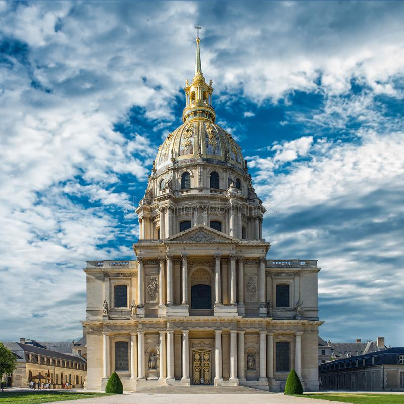 PARIS, FRANCE - May 2018: Chapel of Saint Louis des Invalides in Paris. Chapel built in 1679 is the burial site for some of France stock photography