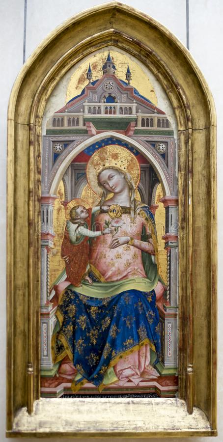 Lorenzo Veneziano.The Virgin Mary with the Child known as The Vi royalty free stock images