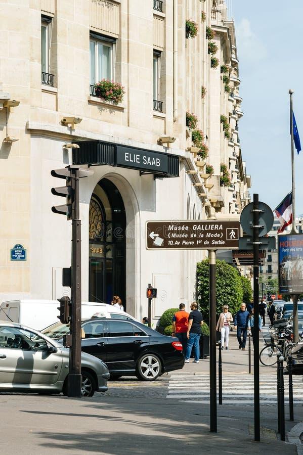 Ellie Saab fashion store boutique showroom store in Paris stock photos