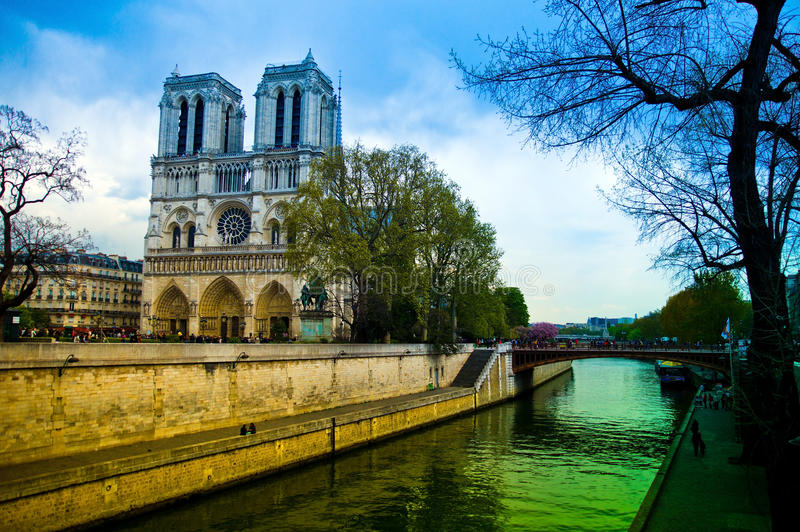 Paris, france. notre dame. The church of notre dame in paris, france. one of the landmarks of the city stock photos