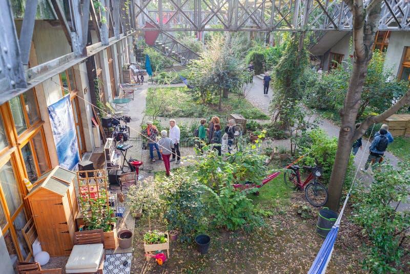 Paris, France  - Nov 1 2019: Art design creative studios ateliers open to public in Ivry-sur-Seine. Paris royalty free stock photo