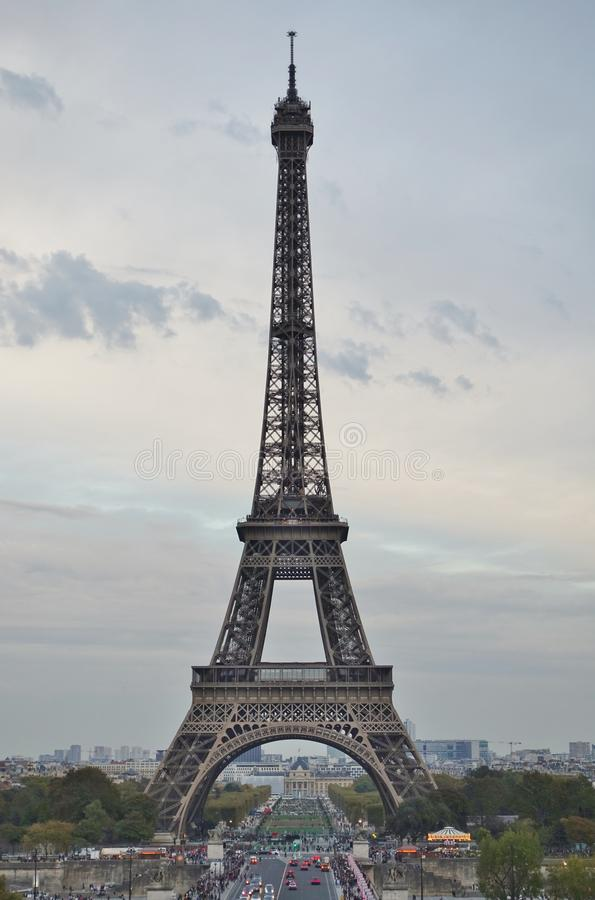 View of the landmark Tour Eiffel tower in Paris, France royalty free stock image