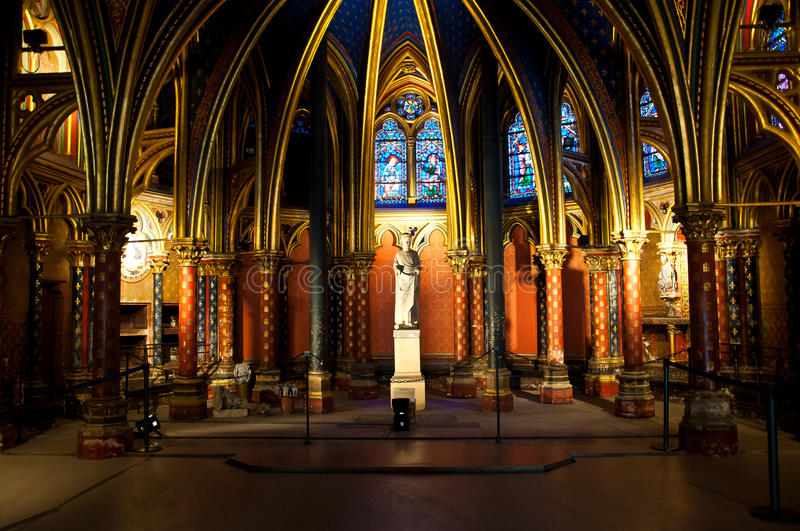 Paris, France, Saint Chapel stock image