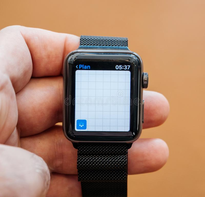New Apple Watch Series 3 apple maps location app royalty free stock image