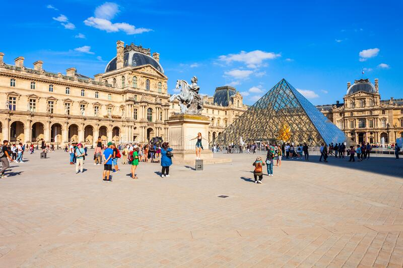 Museum of Louvre in Paris royalty free stock image