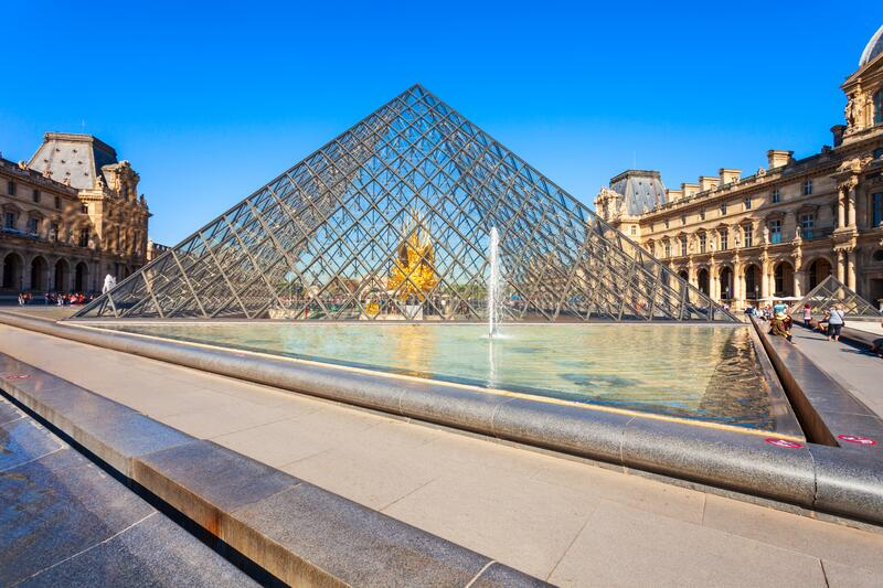 Museum of Louvre in Paris royalty free stock photography
