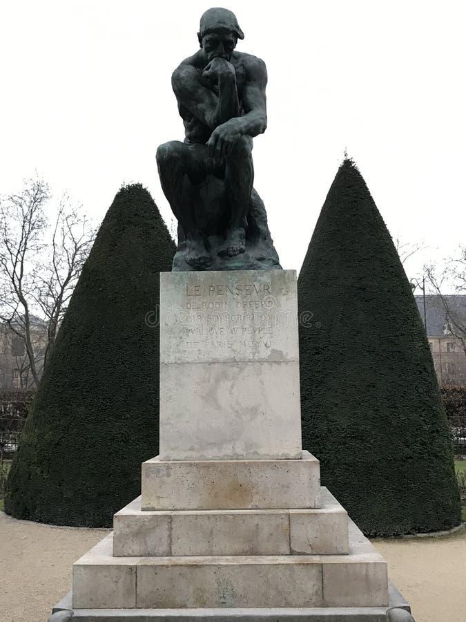 The Thinker Rodin stock photos