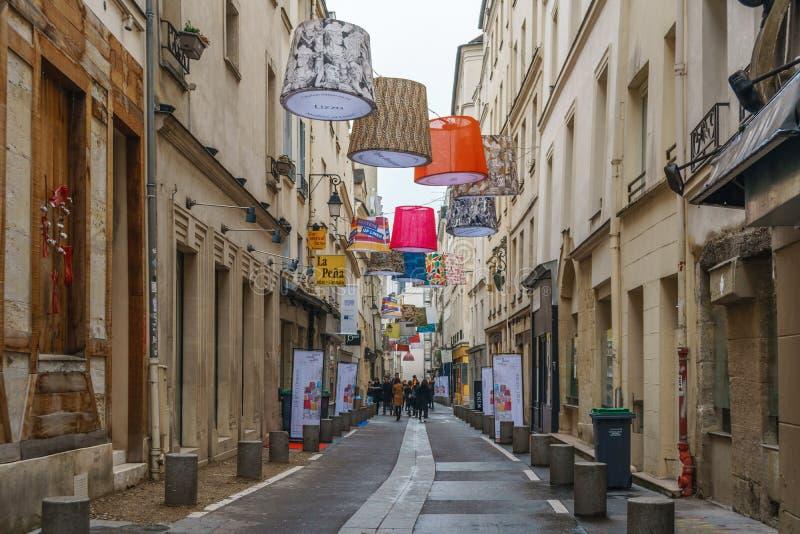 Paris, France - 20.01.2019: Streets of Paris, France. Beautiful historic buildings. Travel stock image