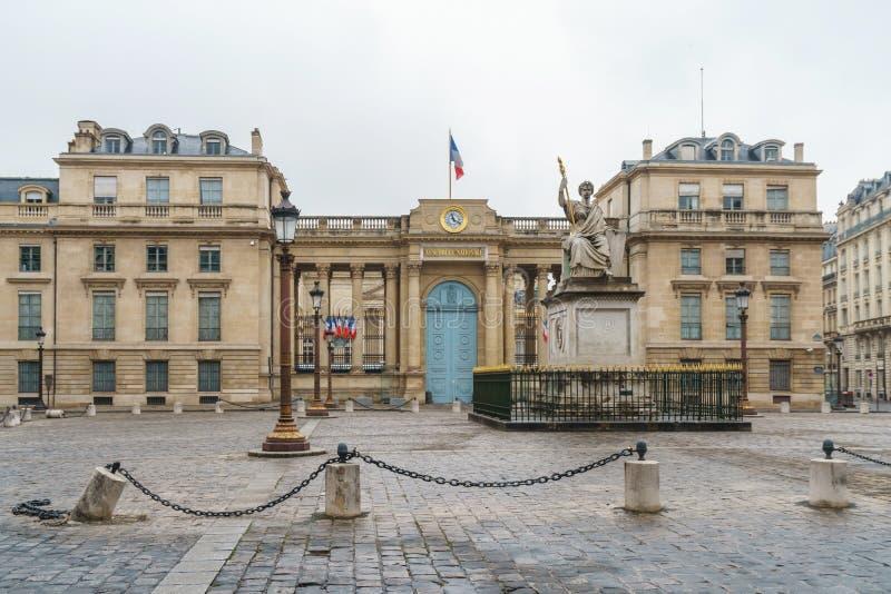 Paris, France - 20.01.2019: Streets of Paris, France. buildings and traffic. Streets of Paris, France. buildings and traffic. Travel royalty free stock photos