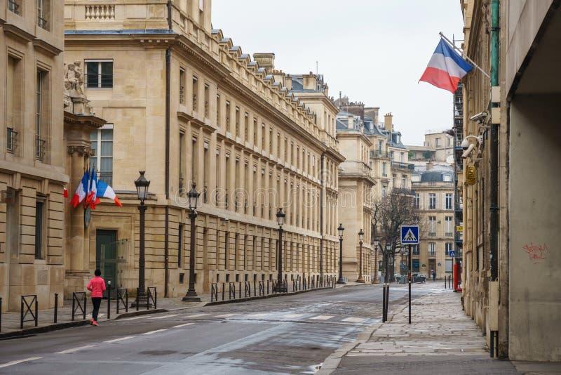 Paris, France - 20.01.2019: Streets of Paris, France. buildings and traffic. Streets of Paris, France. buildings and traffic. Travel stock image