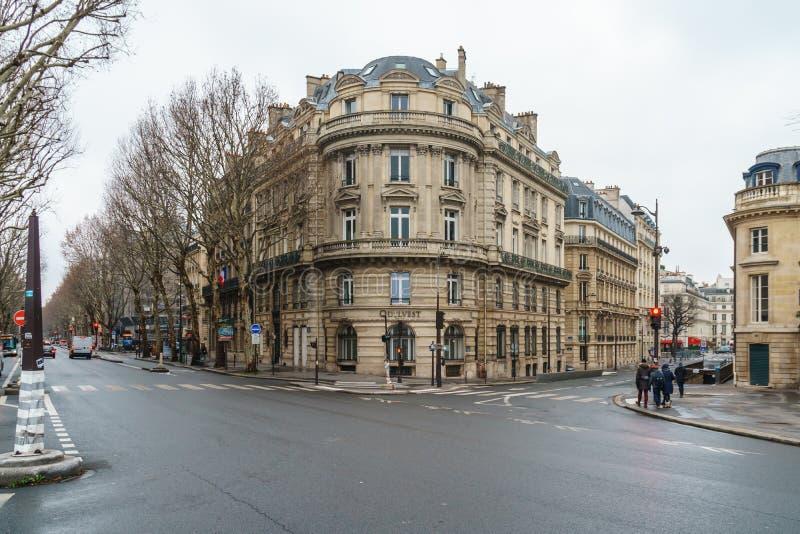 Paris, France - 20.01.2019: Streets of Paris, France. buildings and traffic. Streets of Paris, France. buildings and traffic. Travel stock images