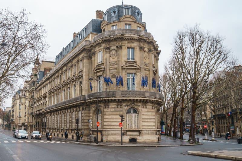 Paris, France - 20.01.2019: Streets of Paris, France. buildings and traffic. Streets of Paris, France. buildings and traffic. Travel stock photography