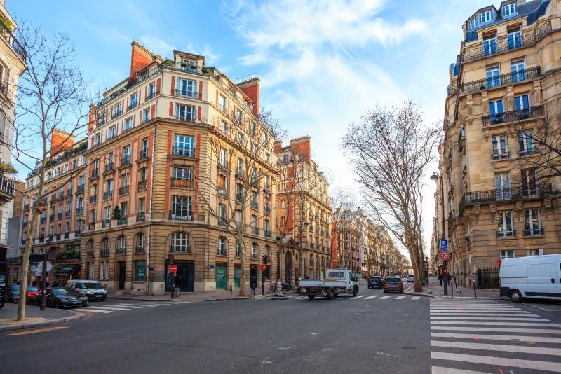 Paris, France - 17.01.2019: Streets of Paris, France. buildings and traffic. Streets of Paris, France. buildings and traffic. Travel stock photography