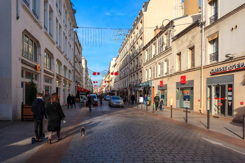 Paris, France - 17.01.2019: Streets of Paris, France. buildings and traffic. Streets of Paris, France. buildings and traffic. Travel stock photo