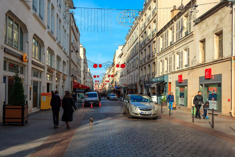 Paris, France - 17.01.2019: Streets of Paris, France. buildings and traffic. Streets of Paris, France. buildings and traffic. Travel stock image