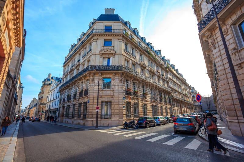Paris, France - 17.01.2019: Streets of Paris, France. buildings and traffic. Streets of Paris, France. buildings and traffic. Travel stock images