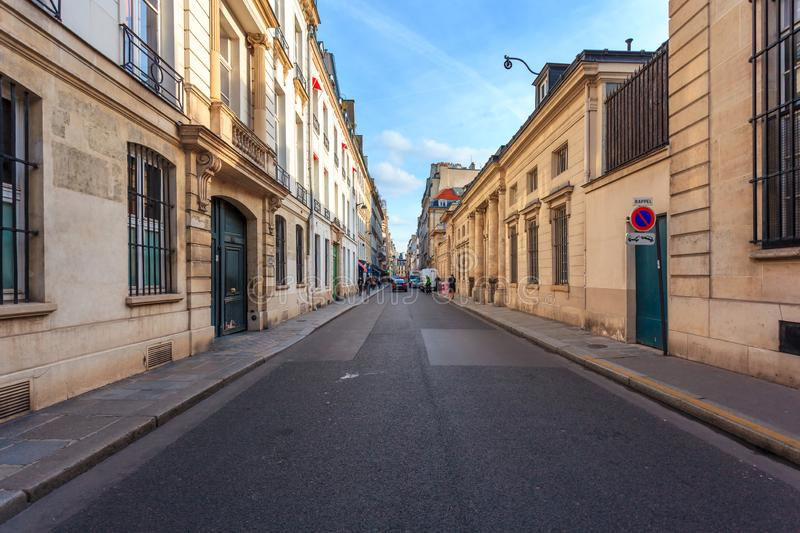 Paris, France - 17.01.2019: Streets of Paris, France. buildings and traffic. Streets of Paris, France. buildings and traffic. Travel royalty free stock photography