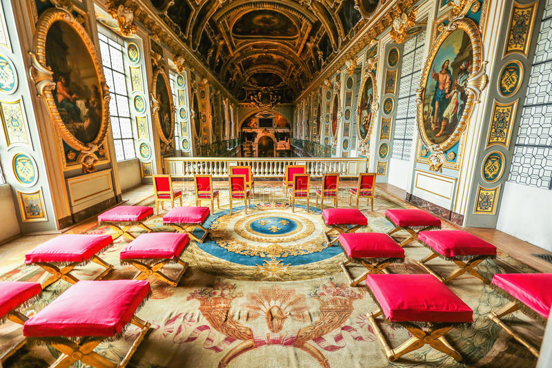 Paris, France, Versailles palace interior stock photo