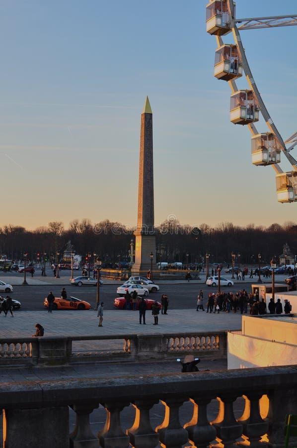 Paris, Frankreich - 02/08/2015: Luxor-Obelisk 'Place de la Concorde ' stockbild