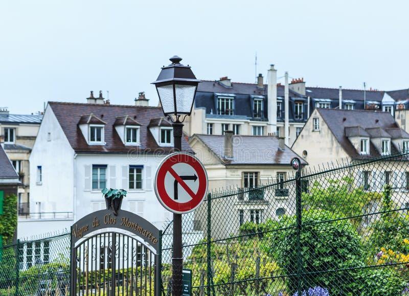 Paris, Frankreich, Weinberge in Montmartre lizenzfreie stockbilder