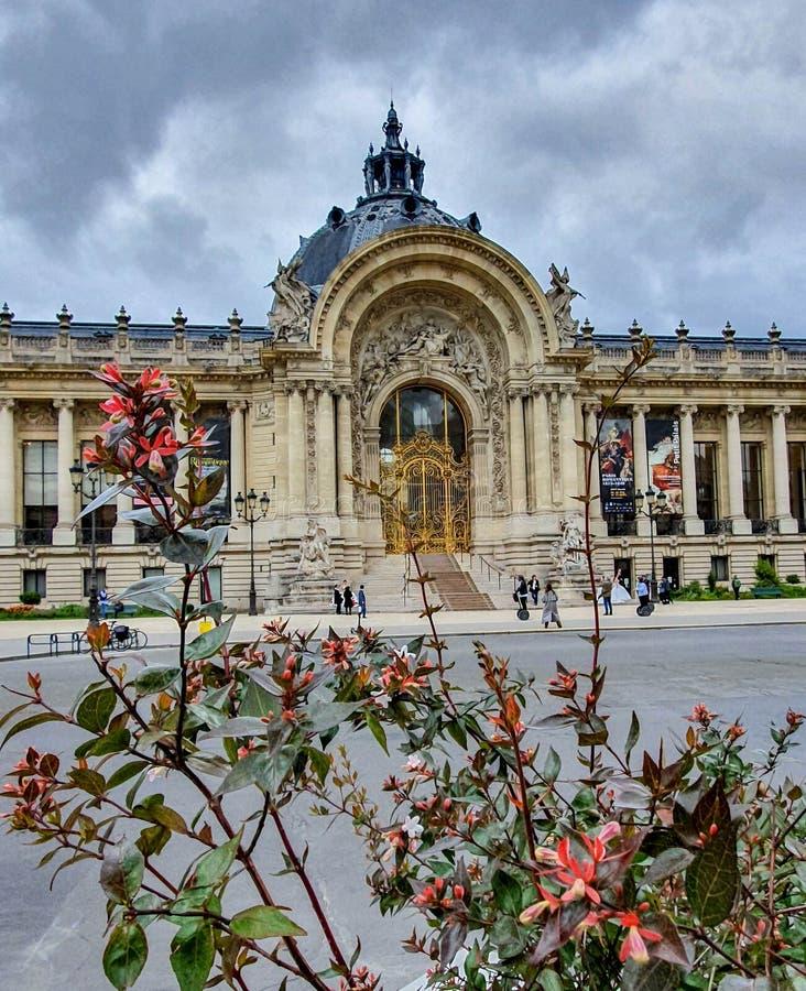 Paris Frankrike, Juni 2019: Petit Palais huvudsaklig ingång royaltyfria bilder