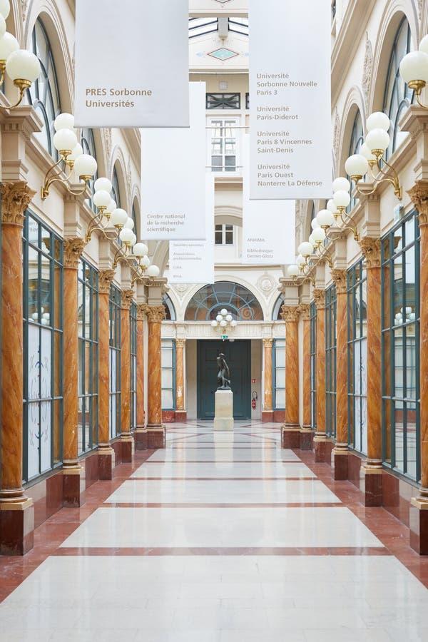 Paris Galerie Colbert, typisk passage royaltyfri fotografi