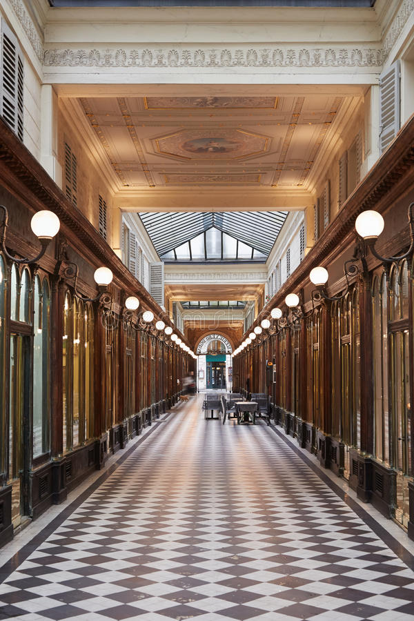 Paris, Galerie Vero-Dodat passage, France royalty free stock images