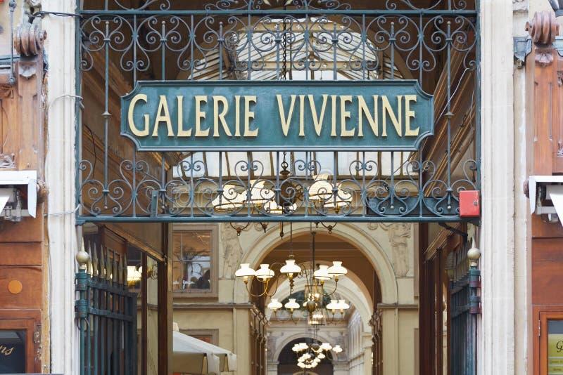 Paris, Galerie Vivienne entrance royalty free stock photo