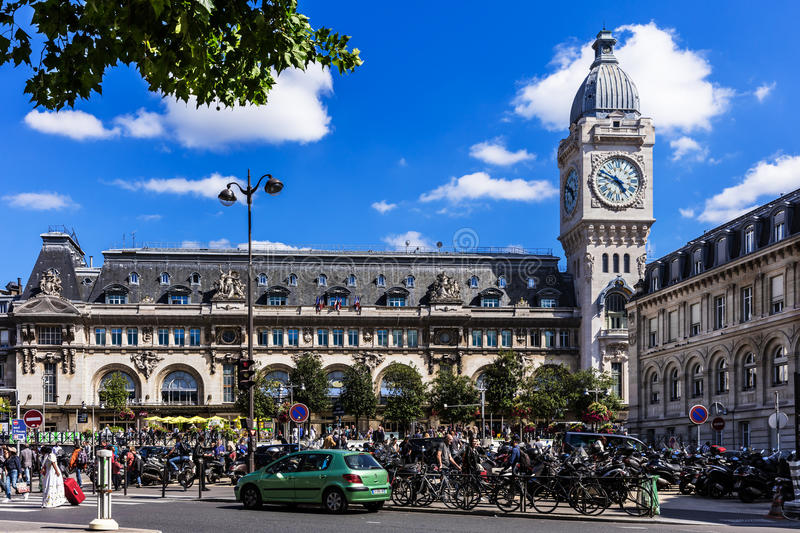 Paris-Gare de Lyon mainlinejärnvägsstation france paris royaltyfri foto