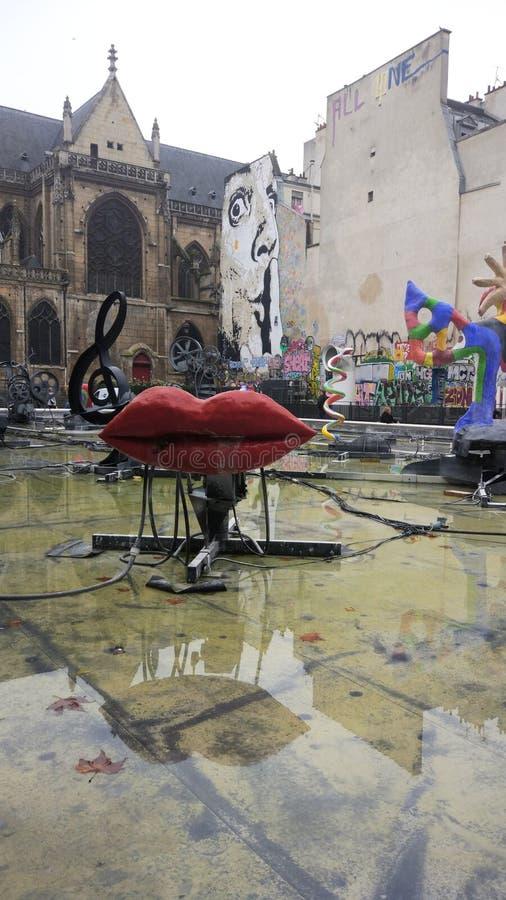 Paris gatakonst fotografering för bildbyråer