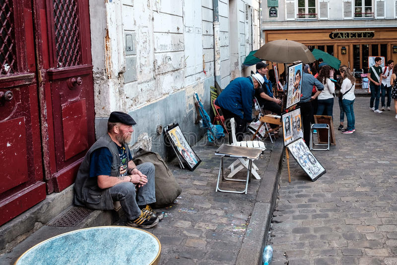 Paris gataplats 5 royaltyfri bild