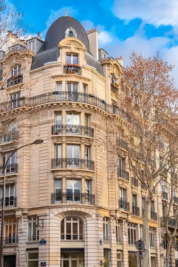 Paris, Gebäude im Winter lizenzfreie stockfotografie