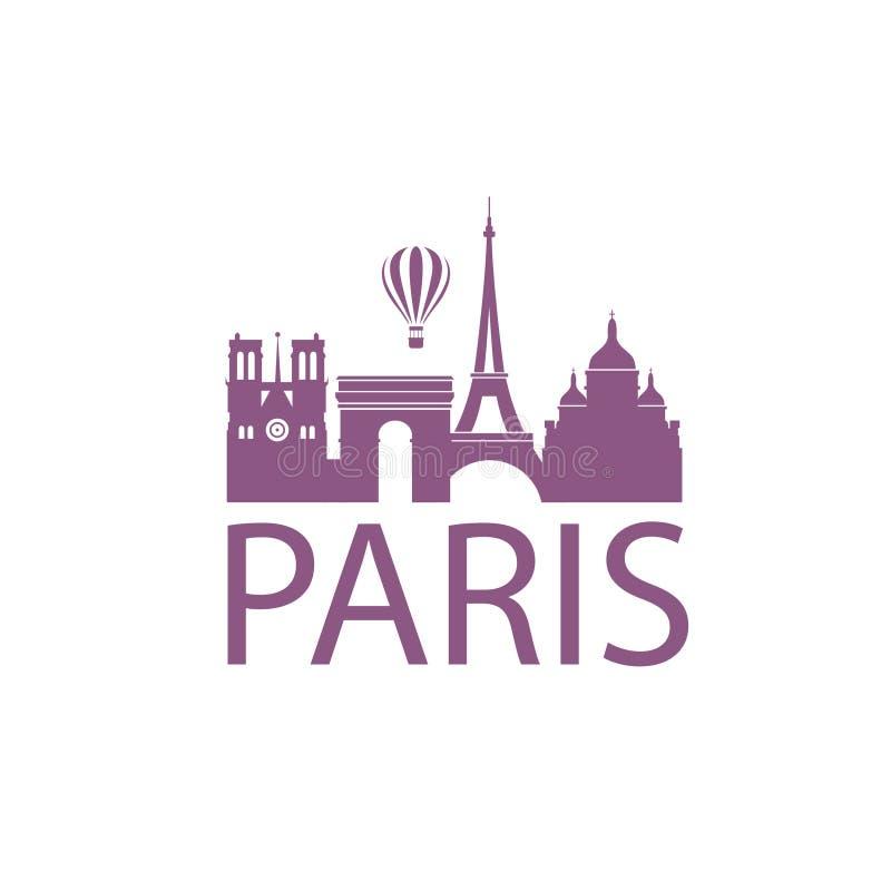 Paris gränsmärkebild royaltyfri illustrationer
