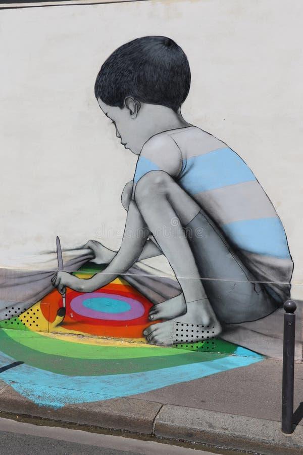 Paris-Graffiti lizenzfreie abbildung