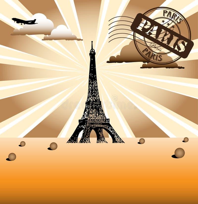 Paris greeting royalty free illustration