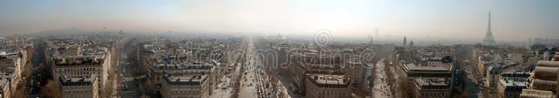 Paris-großes Panorama (Wartungstafel 12.8) stockbild
