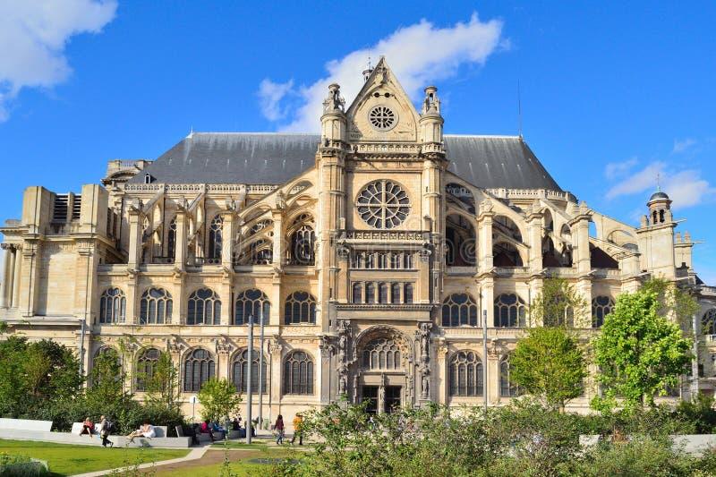 paris Heiliges Eustache Kirche lizenzfreie stockbilder