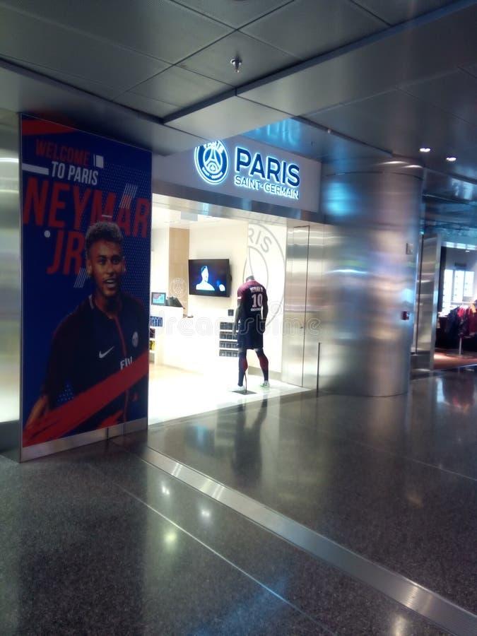 Paris helgon Germain Shop arkivfoto