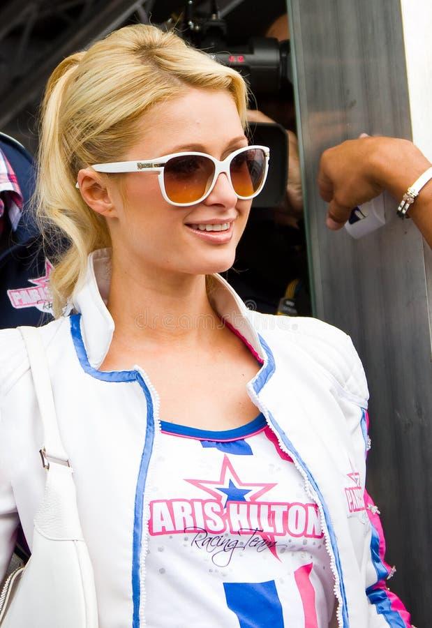 Paris Hilton in Barcelona stock photos