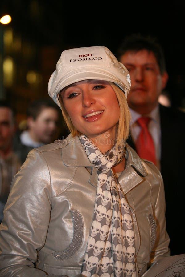 Paris Hilton in Berlin royalty free stock image