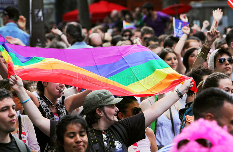 Paris-homosexueller Stolz 2009 lizenzfreie stockbilder