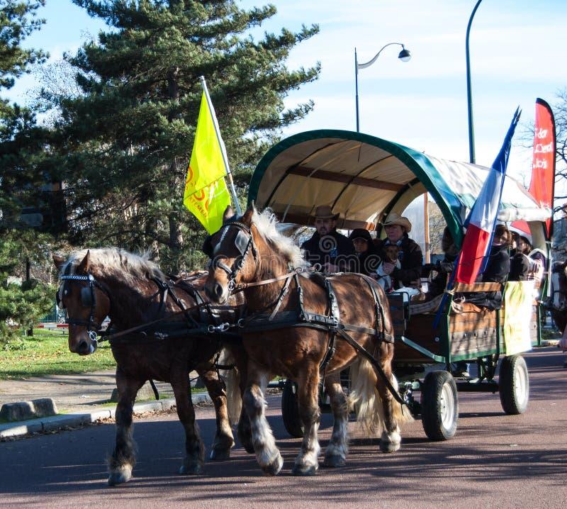 Download Paris horse parade editorial image. Image of brougham - 27876540