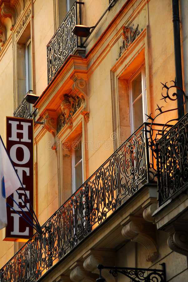 Paris-Hotel stockfoto