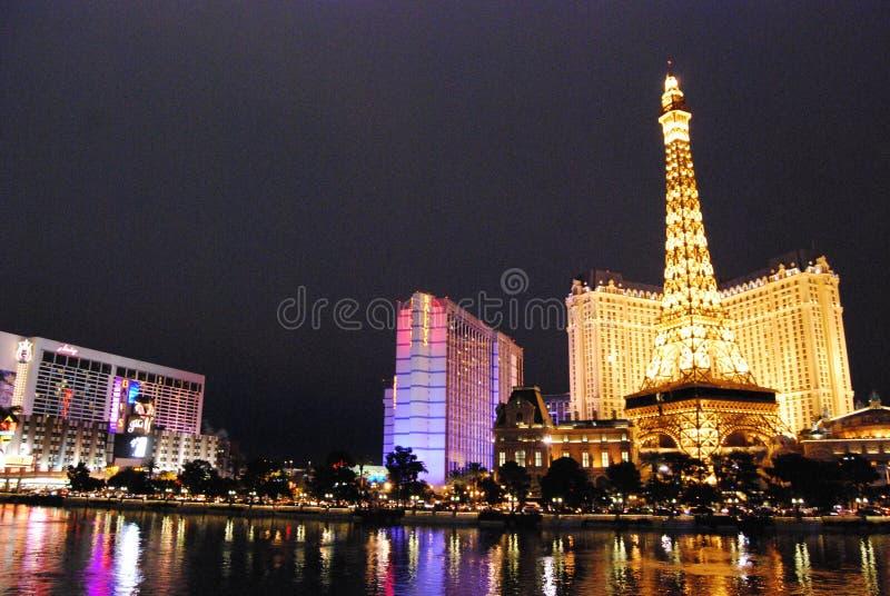 Paris Hotel and Casino, Las Vegas, Las Vegas, metropolitan area, cityscape, reflection, landmark. Paris Hotel and Casino, Las Vegas, Las Vegas is metropolitan royalty free stock images